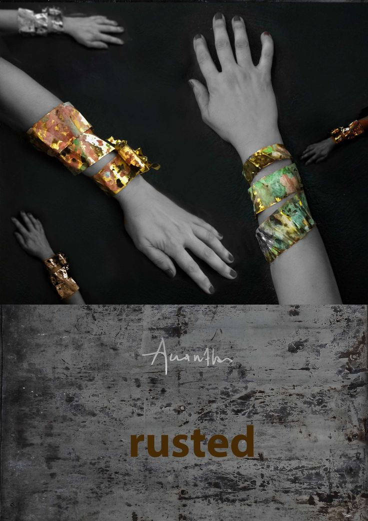 Rusted collection (one of a kind)  www.akanthos.co