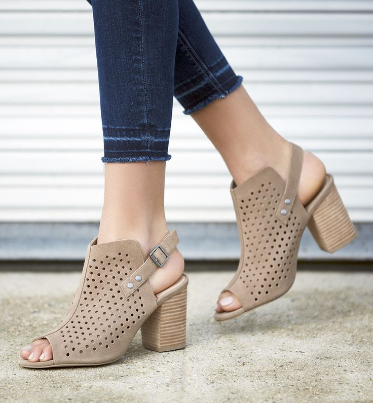 Perforated slingback booties | Sole Society Rena