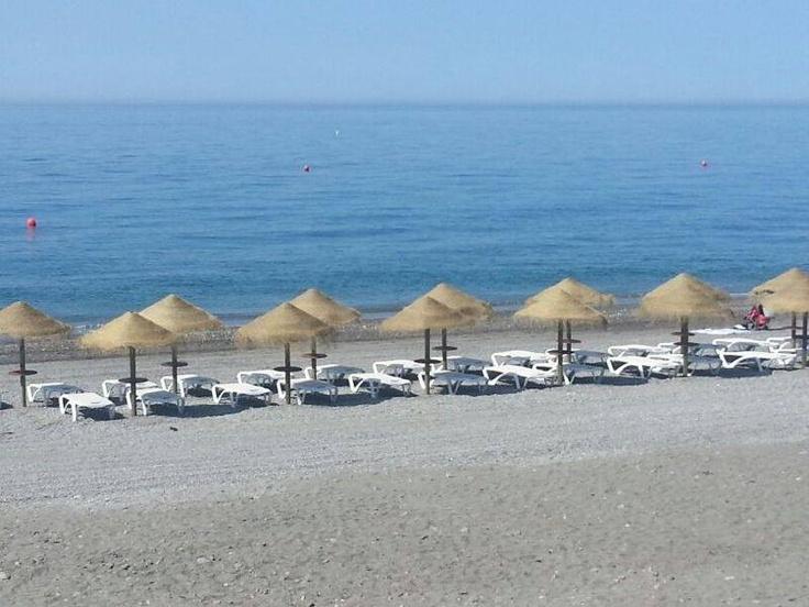 Hamacas en primera línea de playa