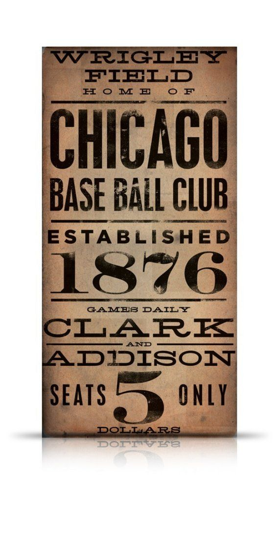 Wrigley Field Chicago Cubs Baseball vintage style by geministudio, $265.00: Chicago Cubs, Cubs Baseball, Field Chicago, Wrigley Field, Vintage Style, Fields