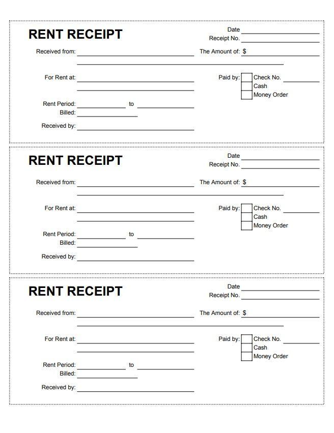 Rent Receipt Template Receipt Template Being A Landlord Receipt