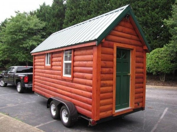 nc tiny log cabin on wheels for sale for 16k tiny. Black Bedroom Furniture Sets. Home Design Ideas