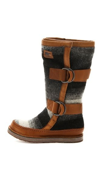 Sorel Chipahko Blanket Boots. SOOO excited for these to come in the mail soon! No more wet socks this winter :)