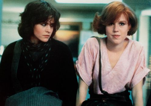 Ally Sheedy and Molly Ringwald in The Breakfast Club
