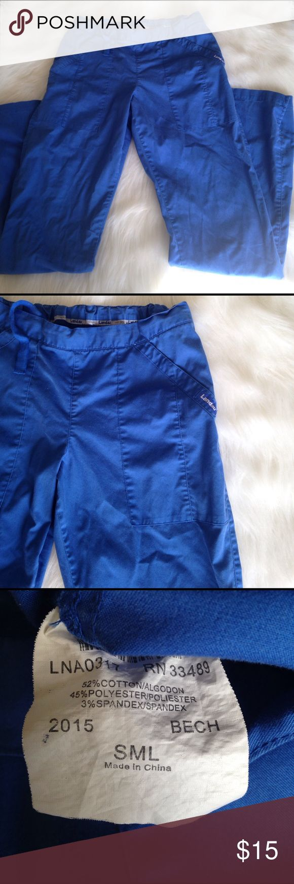 Landau scrub pants Chic blue scrub pants! Super soft material. No signs of wear. Let me know if you have any questions! Landau Pants Straight Leg