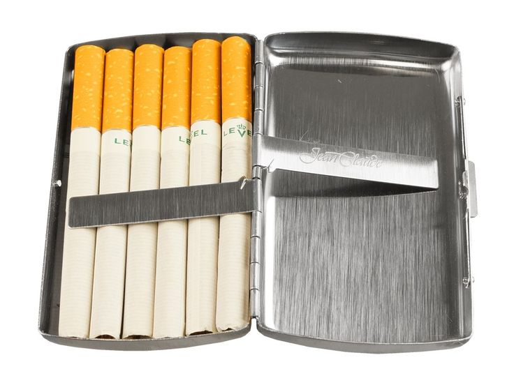 Cigarette Case JC Double Small Rounded is made up of stainless steel which can store upto 12 cigarettes. Buy this cigarette case at We Get Personal.