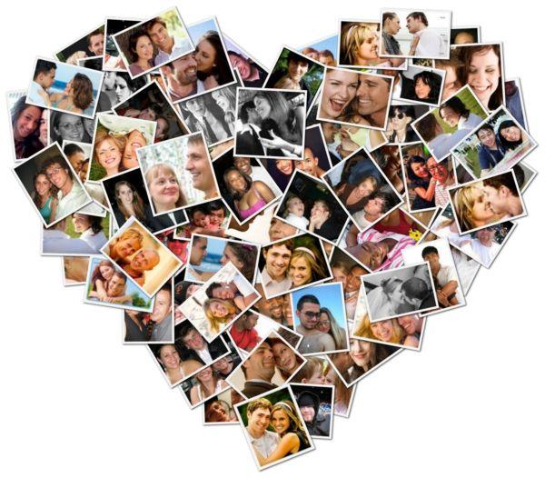 geburtstagsgeschenke selber machen foto collage liebe herz form diy idee