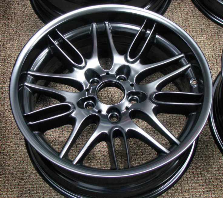 Satin Black Powder Coated BMW Wheels wheels Pinterest