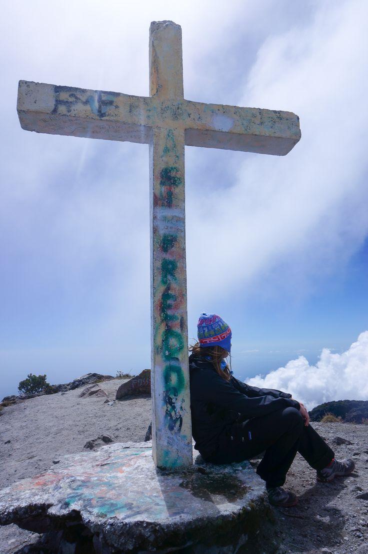 At the top of Volcan Baru, Panama http://www.theadventurejunkies.com/hiking-highest-peak-panama-volcan-baru/
