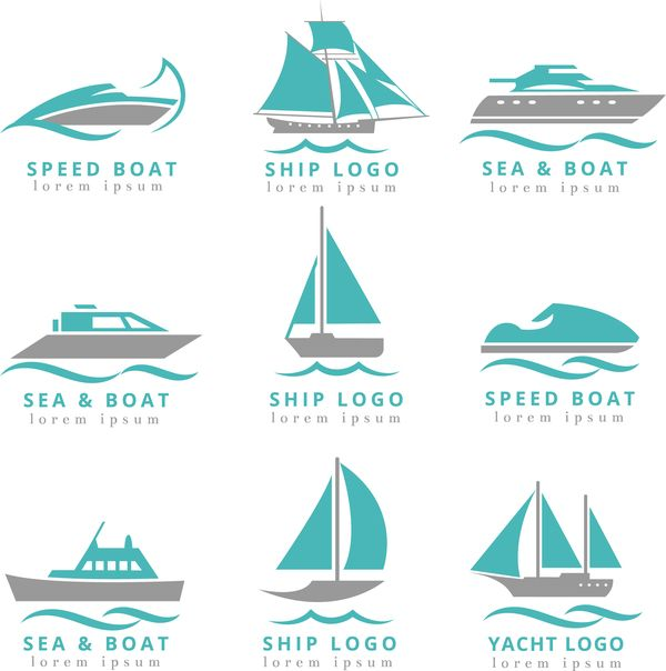 Gratis Ai Fil Hastighet Bat Med Fartyget Och Yacht Logotyper