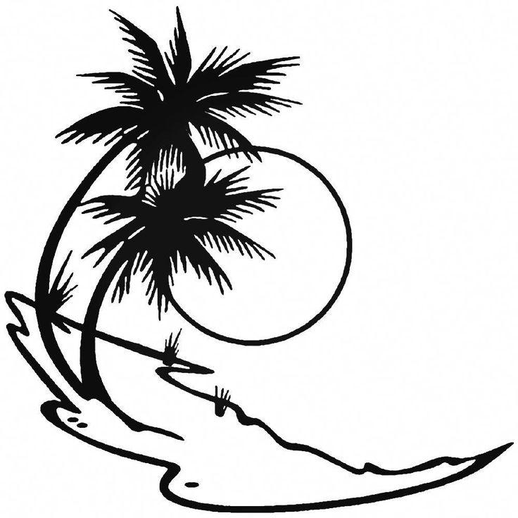 Нарисованные черно белые картинки пляж
