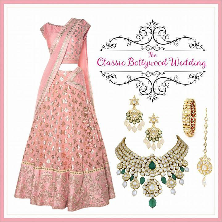 Classic Bollywood music, over the top entertainment and larger than life ceremonies. Perfect for a glamorous night where the bride is the star of the wedding. #AnitaDongre #bridal #bridalwear #jewellery #PinkCity