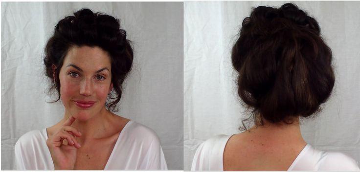 EASY Edwardian Mr Selfridge Kitty hair tutorial (gibson girl Victorian updo style) -- VINTAGIOUS