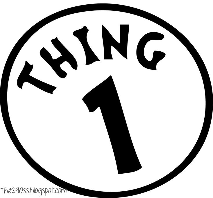 Epic image pertaining to thing 1 and thing 2 logo printable