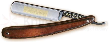 "DOVO Straight Razor with Reddish Brown Pakkawood Handles 5/8"" (141583) - KnifeCenter - 141 583"