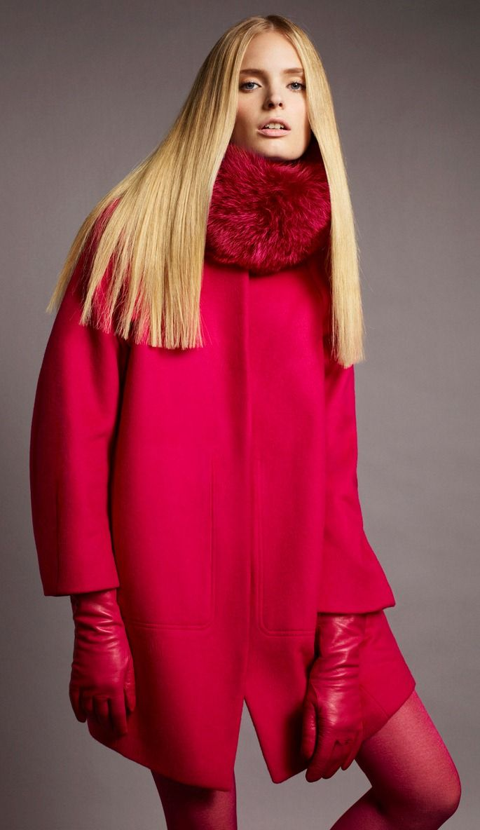 love the red coat but with another color gloves! Cobalt blue??