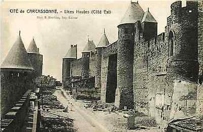 Carcassonne France 1906 Road Between Inner & Outer Wall Antique Vintage Postcard