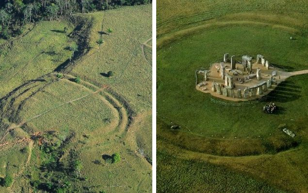 Hundreds of ancient earthworks resembling Stonehenge found in Amazon rainforest. Hundreds of ancient earthworks resembling those at Stonehenge were built in the Amazon rainforest, scientists have discovered after flying drones over the area....