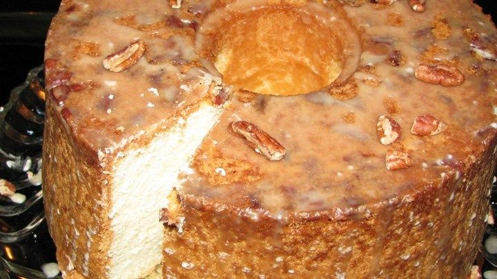 A Rich And Delicious Sour Cream Pound Cake Is Baked In A