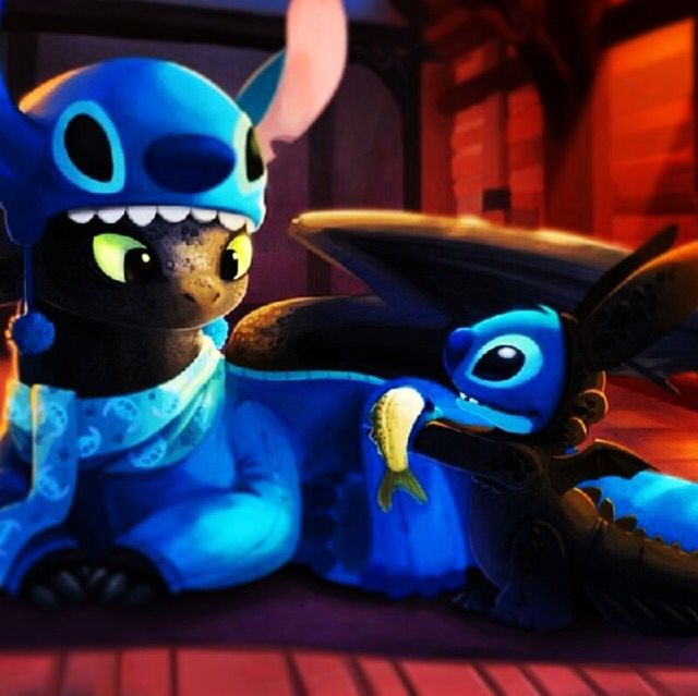 Toothless Stitch Being Cute Httyd