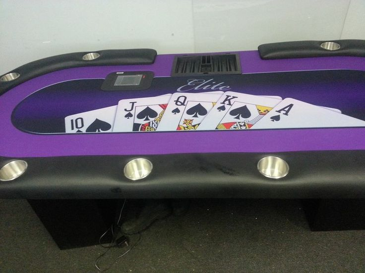 Custom Poker Rail with Cupholders SwiftHeritageHQFrontDesk
