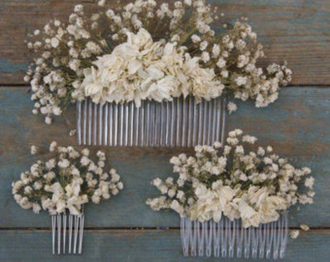 Otoño Rústica Seca Flor Pelo Peine Etsy Coronas De Flores Novia Peinados De Boda Sueltos Tocados Novia Flores