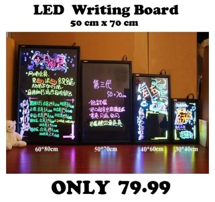 LED WRITING BOARD 50 X 70 CM