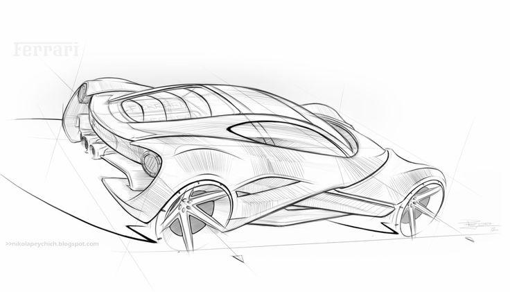 Ferrari Sketch by NikolaPeychich