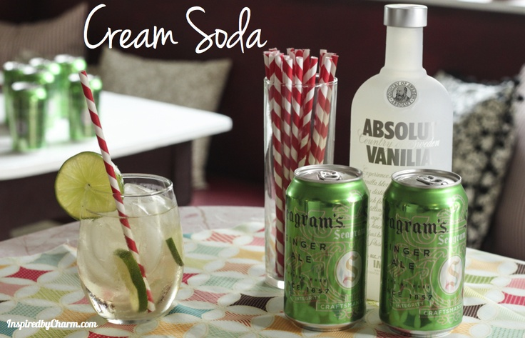 Cream Soda Cocktail - two ingredients, plus a wedge of lime = delicious!Seagram Gingers, Gingers Ales, Vanilla Vodka, Cream Sodas, Drinks Extra, Cocktails Recipe, Sodas Cocktails, Simple Sip, Drinks Recipe