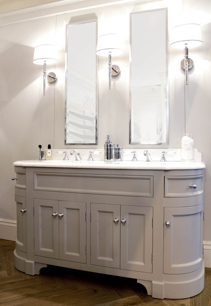 Double Stratford Painted Unit with Crystal White Marble Top - www.portervanities.com