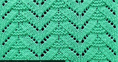 Popular lace knitting pattern. Free chart. Multiple of 15 sts, + 1. All even rows are purl to end.