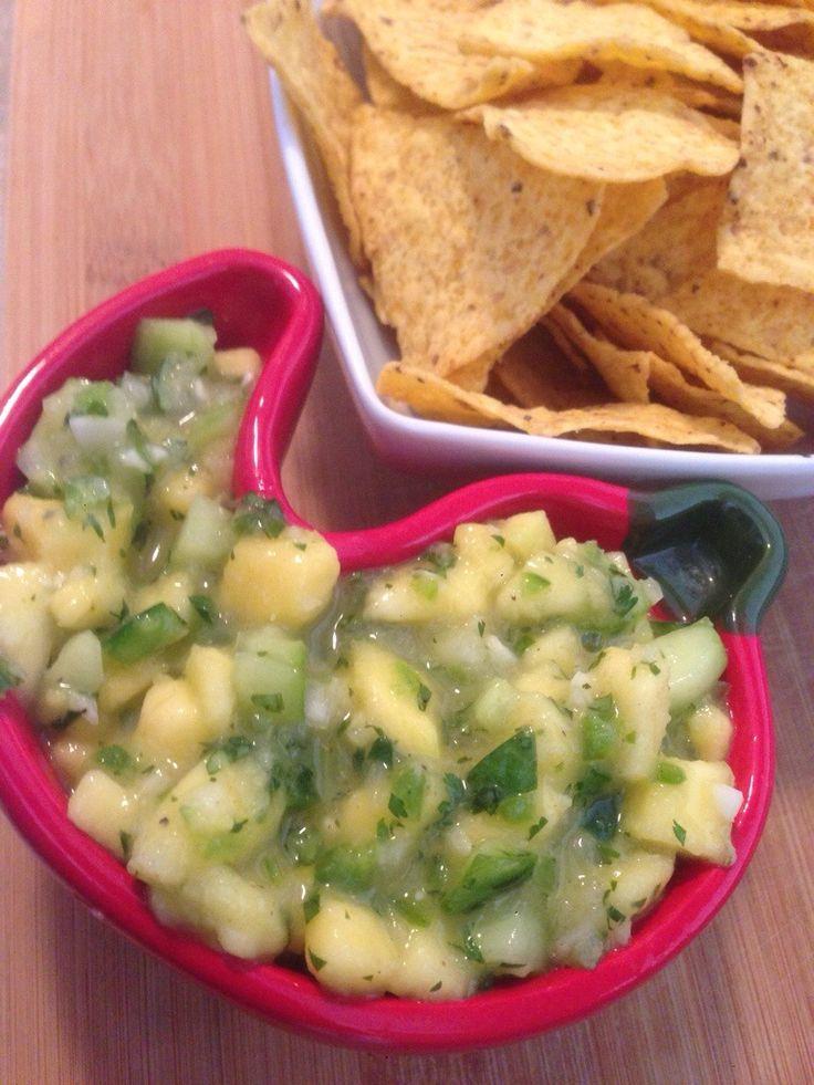 Cucumber Mango Salsa Condiments   Amanda Greenthumb - Certified Health Coach