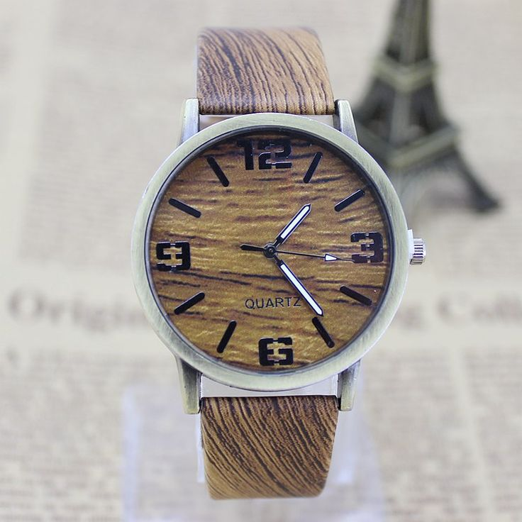 Classical Bamboo Wooden Watch New Arrival Women Wristwatches High Quality Vintage Style Men Dress Watch PU Leather Quartz Watch