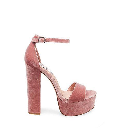 Velvet Platform Shoes & Heels | Steve Madden GONZO