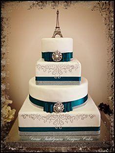 42 Best Paris Wedding Cake Ideas Images On Pinterest