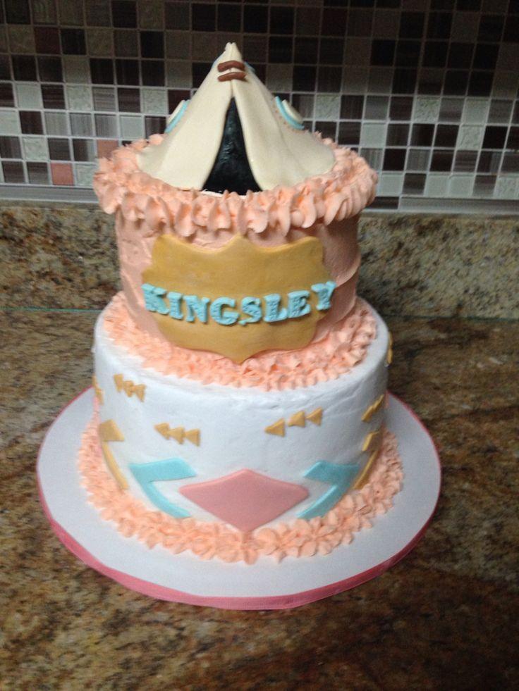Aztec princess themed baby shower cake   Cakes by Tara ...