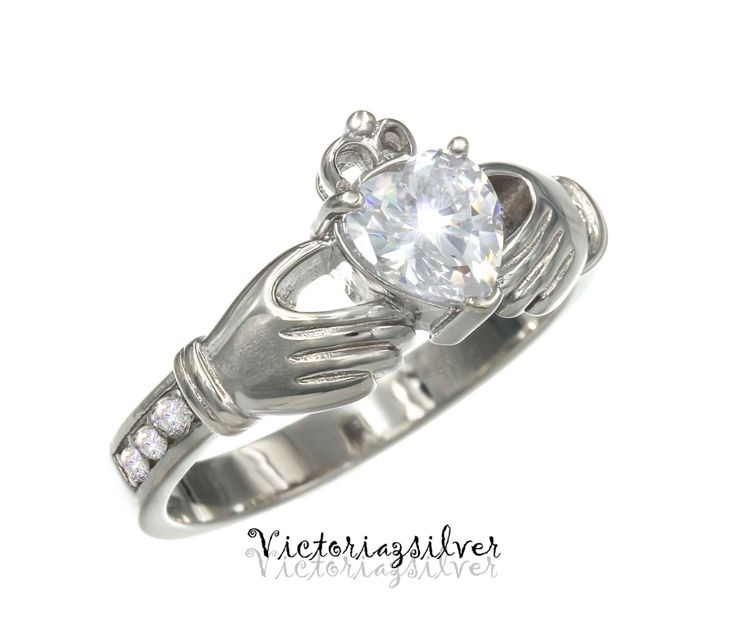 925 Sterling Silver Claddagh Ring,Irish Claddagh Ring,Promise Ring, by Victoriazsilver on Etsy https://www.etsy.com/listing/261115907/925-sterling-silver-claddagh-ringirish