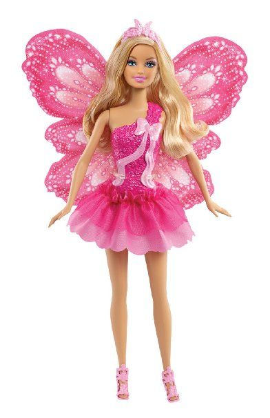 Mattel Barbie X9449 - Schmetterlingsfee blond, Puppe mit abnehmbaren Flügeln
