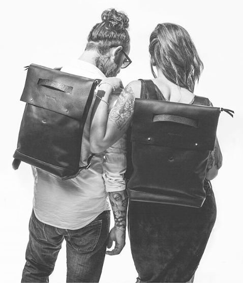 Dillinger back pack Duet !#matindhust #leatherbags #madeinmtl #minimal #unisexe: