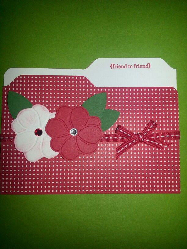 File folder card. Made with envelope punch board.