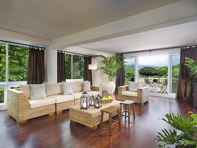 Tropical Modern Contemporary Living Room 96815love