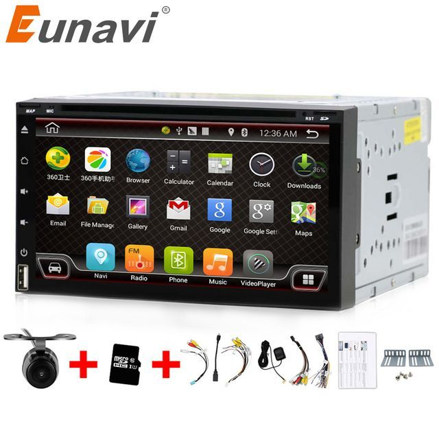 Great Price 200 48 Buy Eunavi Quad Core 2 Din Android 6 0 Car