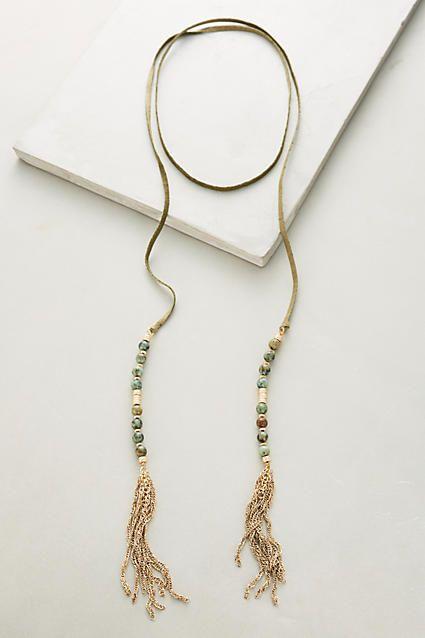 Beaded Suede Necklace - anthropologie.com