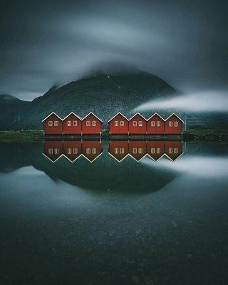 Sunndalsøra, Norway. : AccidentalWesAnderson