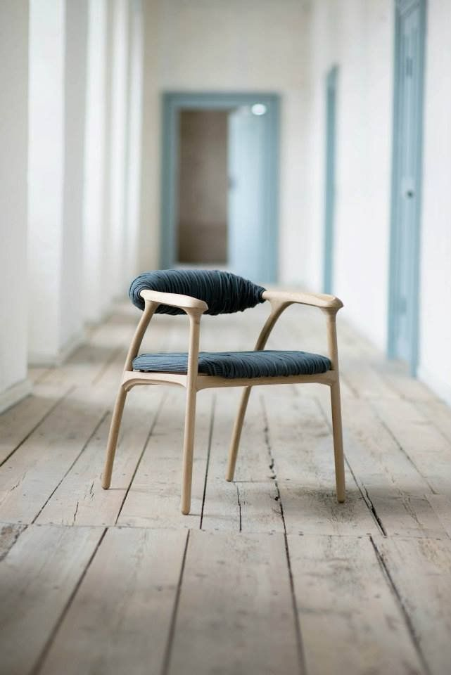 Haptic Chair Danish Designer Trine Kjaer Has Created A Chair With A Backrest  And Seat Wrapped In Thick Lengths Of Cord Intertwined With Thin Strands Of  ...