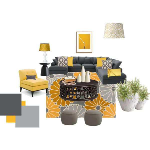 love love love - yellow and grey is the theme for my new living room :)