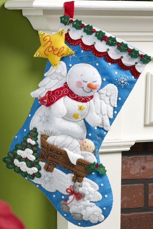 Snow Angel Bucilla Christmas Stocking Kit