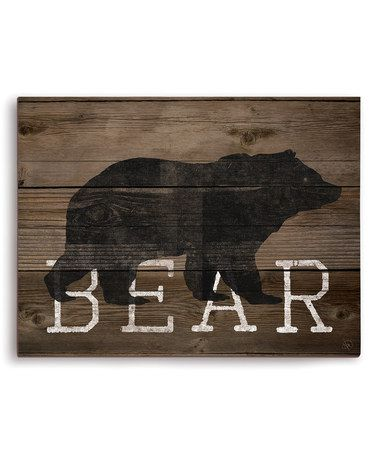 Look at this #zulilyfind! 'Bear' Silhouette Wall Art #zulilyfinds