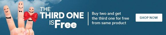 New Offers and Deals: Buy Two and Get ONE for FREE at Souq.com Saudi Arabia  SHOP NOW  Buy Two and Get the Third One for FREE from the Same Product  FREE Shipping on orders with SAR 200 or above  Enjoy Eid Offers from NOW!  Avoid traffic and parking hassle and SHOP NOW!  http://ift.tt/2xgcGv6