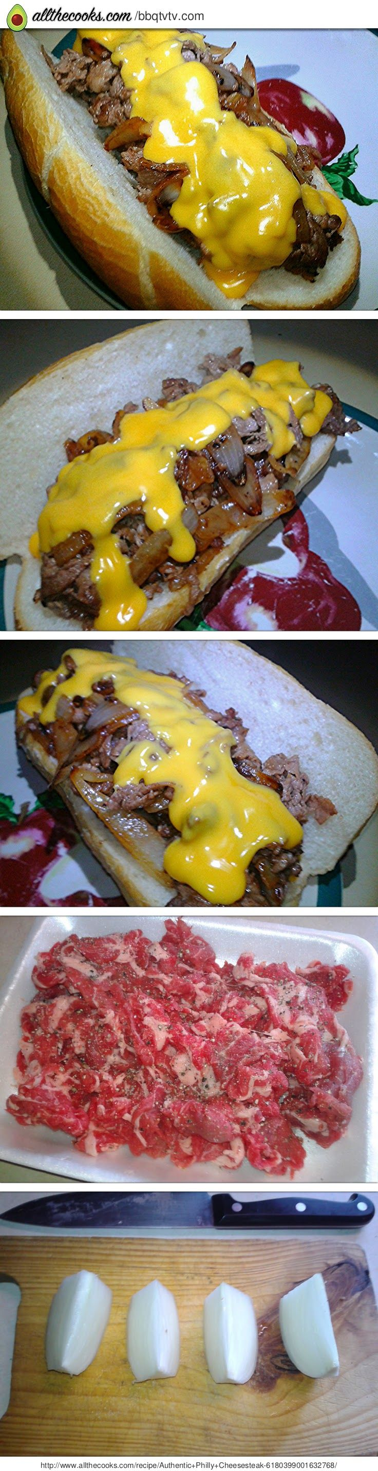 "Authentic Philly Cheesesteak! 5.00 stars, 8 reviews. ""Beef and cheesy goodness. An American classic that you can now make anywhere in the world with this super secret recipe."" @allthecooks #recipe"